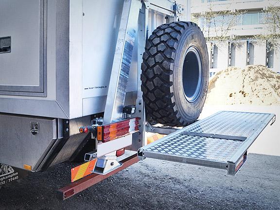 Reserverradträger Reserveradhalter Motorrad Plattform Offroad Wohnmobil LKW Expeditionsfahrzeug