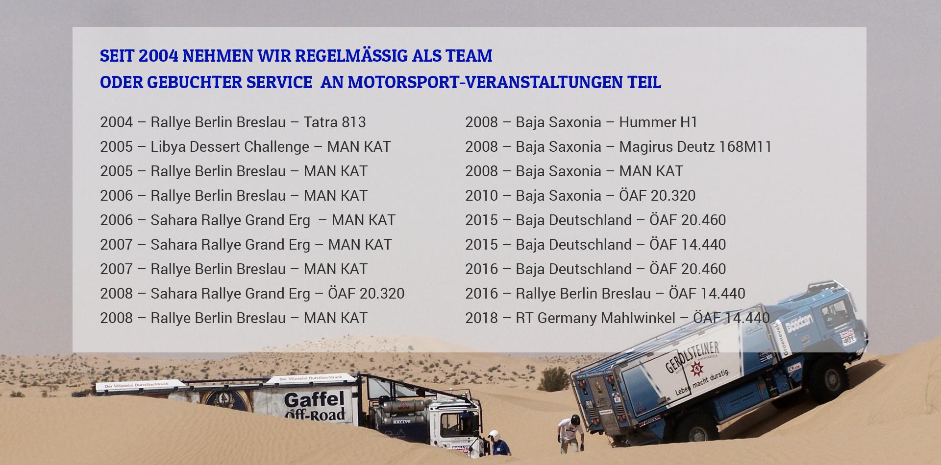 Rallye Veranstaltungen - TRIALSPORTS