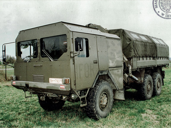 ÖAF Originalzustand 1977 - Panzerung